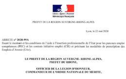 CANTAL'MOUV - Aurillac - Nouvel arrêté préfectoral concernant les CUI CAE