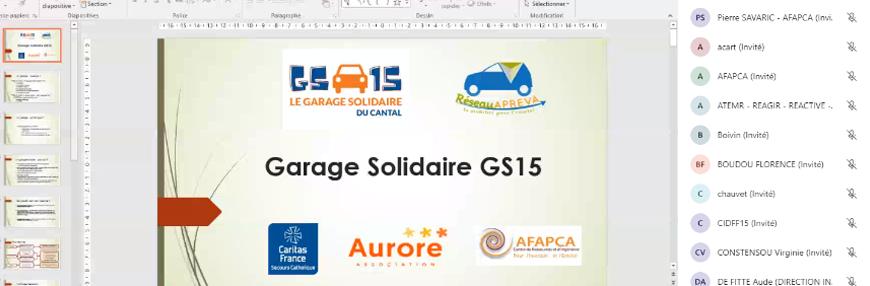 CANTAL'MOUV - Aurillac - Ouverture du garage solidaire du cantal